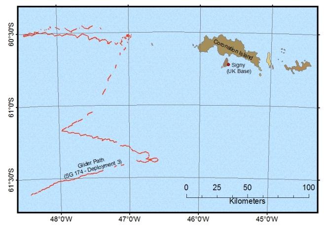 Ocean Glider deployment map