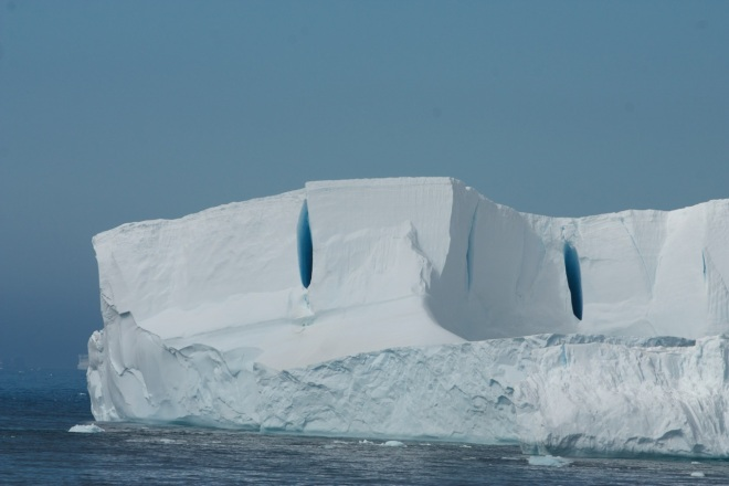 Tabular Iceberg in the Antarctic Ocean