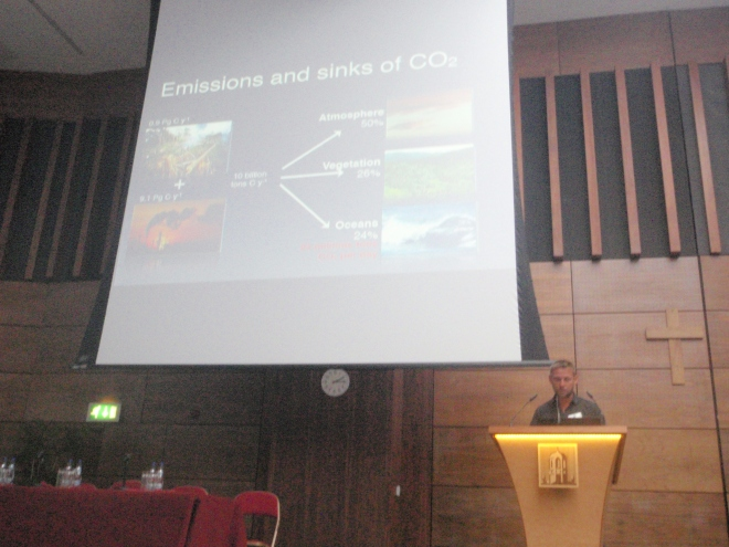 Key note speaker Prof. Jason Hall-Spencer's talk about ocean acidification and biodiversity.